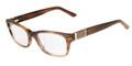 Fendi Eyeglasses 958 234 Light Striped Brown 52-18-135