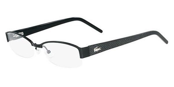 26c0a3f03052 Lacoste Eyeglasses L2127 001 Shiny Black 51-17-135. Image 1. Loading zoom