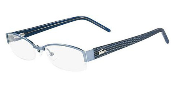 1a44bff2f668 Lacoste Eyeglasses L2127 424 Satin Light Blue 51-17-135. Image 1. Loading  zoom