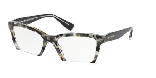 36e0807688a5 Miu Miu Eyeglasses MU 04NV DHE1O1 White Havana Marble 52-20-140. Image 1.  Loading zoom