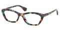 Prada Eyeglasses PR 03QV NAG1O1 Havana Spotted Blue 52-18-140