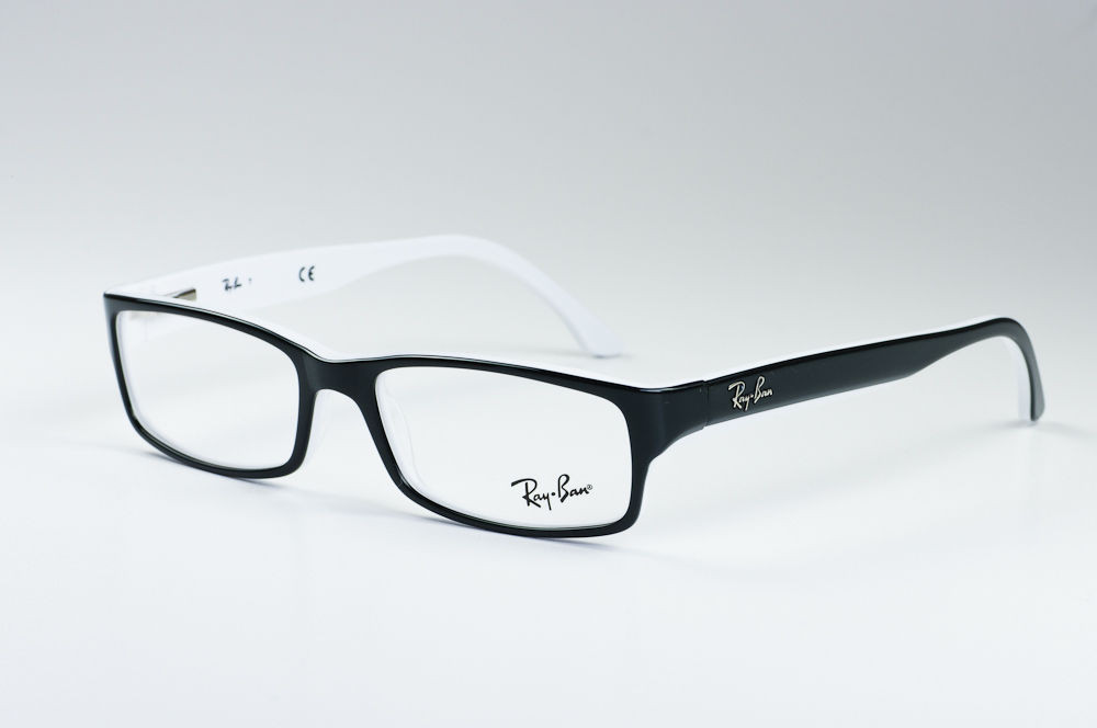 1f7df80d18db0 Ray Ban Eyeglasses RX 5114 2097 Black White 52-16-135 - Elite ...