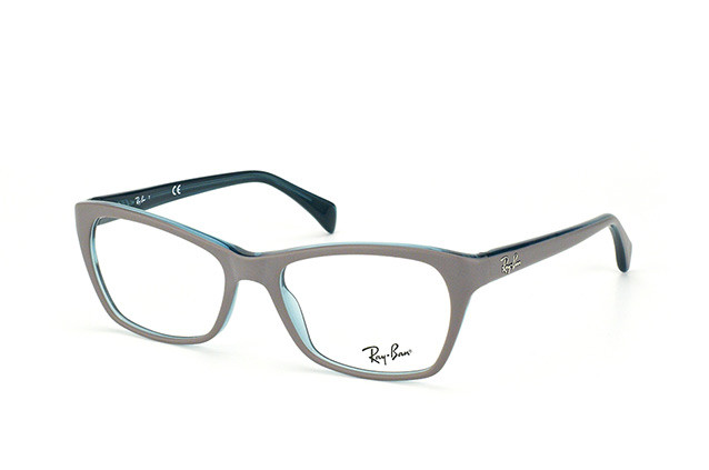 12c827ace5 Ray Ban Eyeglasses RX 5298 5389 Top Matte Grey On Transparent Oil 55 ...
