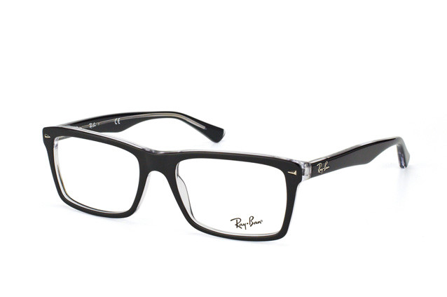 2b76a583487 Ray Ban Eyeglasses RX 5287 2034 Top Black On Transparent 54-18-145. Image  1. Loading zoom