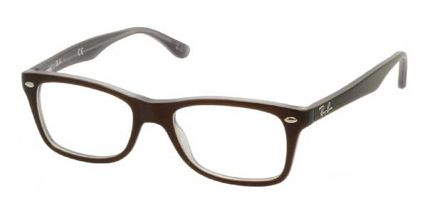 47e1105601 Ray Ban Eyeglasses RX 5228 5076 Top Brown On Opal Azure 50mm. Image 1.  Loading zoom