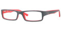 Ray Ban Eyeglasses RX 5246 5225 Top Grey On Matte Red 52-16-135