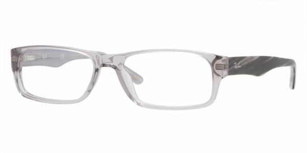 1f75c59a01090 Ray Ban Eyeglasses RB 5203 2467 Gray Transparent 53-16-140 - Elite ...