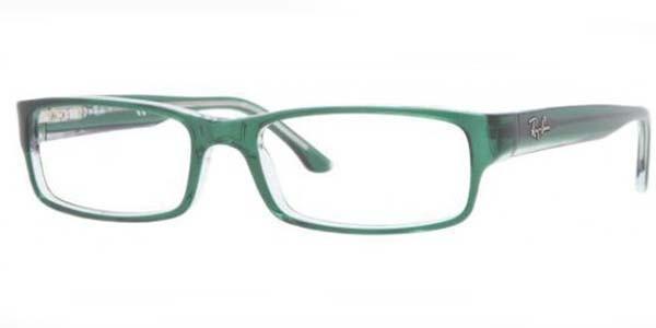 969d2fc8ca5ef Ray Ban Eyeglasses RB 5114 5162 Green Transparent 52-16-135. Image 1.  Loading zoom