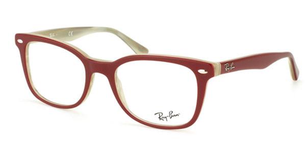 49581e84e15 Ray Ban Eyeglasses RB 5285 5152 Red Beige Horn 51-19-140 - Elite ...
