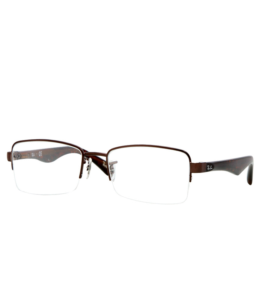 bff2c05b5f77 Ray Ban Eyeglasses RB 6195 2511 Brown 53-18-135 - Elite Eyewear Studio