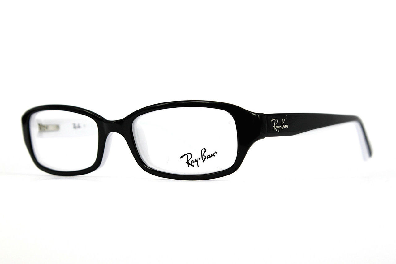 f6575a1471 Ray Ban Jr Eyeglasses RY 1529 3579 Black White 47-16-125. Image 1. Loading  zoom