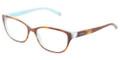 Tiffany Eyeglasses TF 2087H 8164 Havana Blue 52-16-140