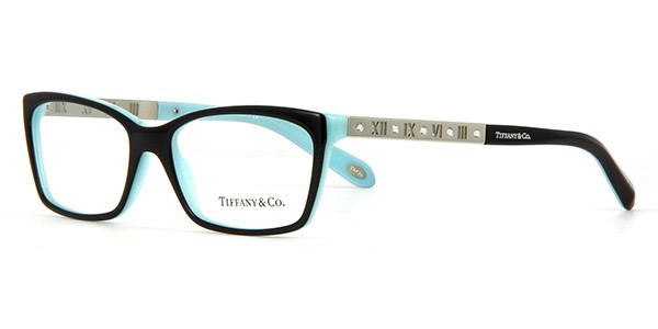 aed8af969b12 Tiffany Eyeglasses TF 2103B 8055 Black Blue 53-16-140. Image 1. Loading zoom