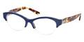 Tory Burch Eyeglasses TY 2046 1339 Navy Spotty Tortoise 49-16-135