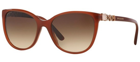 bc997f3a6b7 Bvlgari Sunglasses BV 8145B 533413 Transparent Brown 55-18-140. Image 1