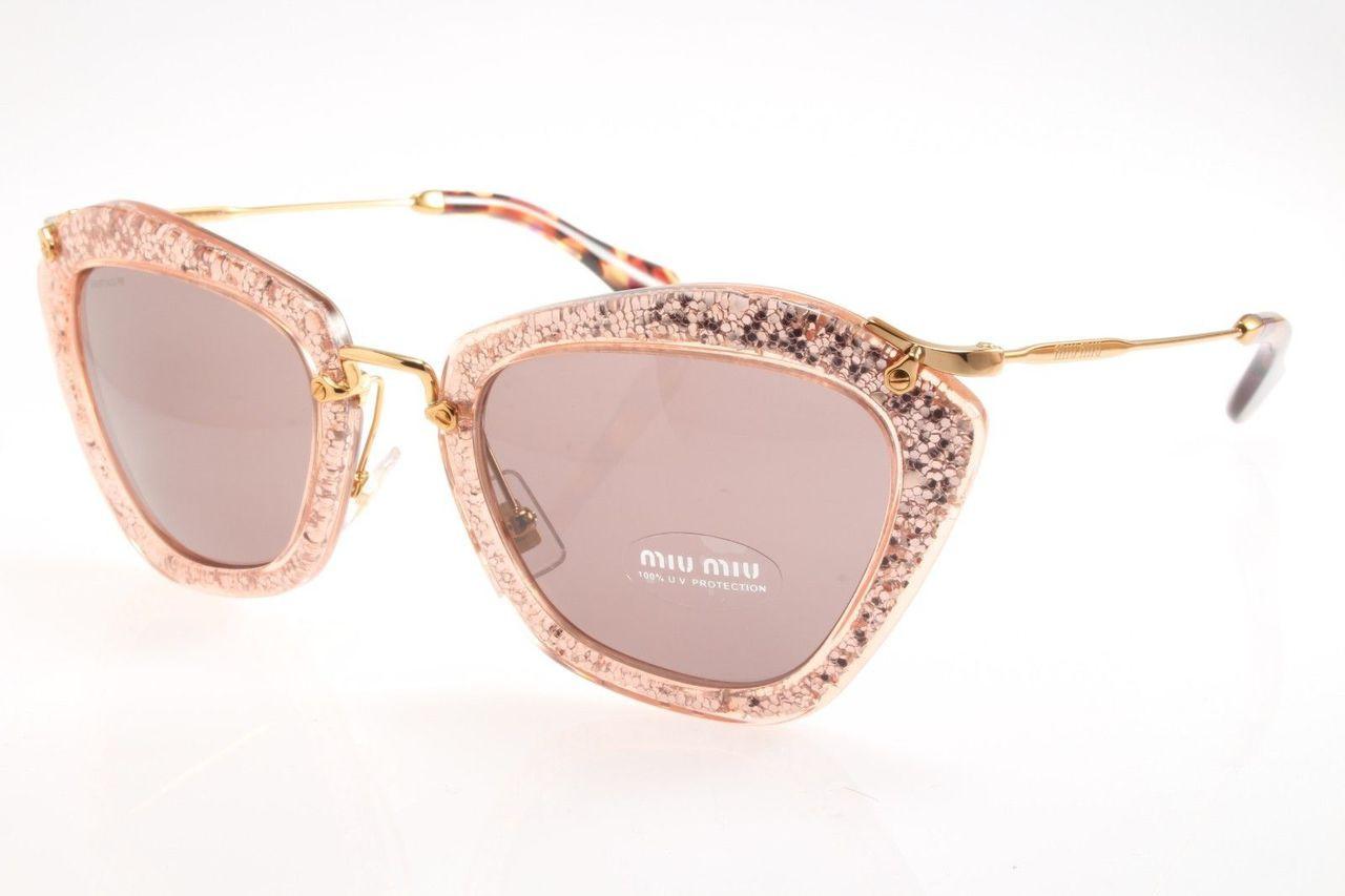 cc093f4aa27e Miu Miu Sunglasses MU 10NS TKB6X1 Pink Silver 55-24-140. Image 1. Loading  zoom