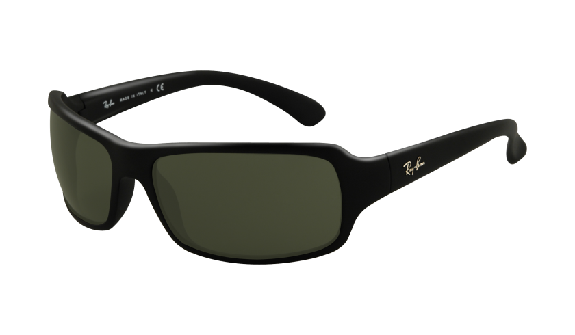 b196bfda55 Ray Ban Sunglasses RB 4075 601S Matte Black 61-16-130 - Elite ...