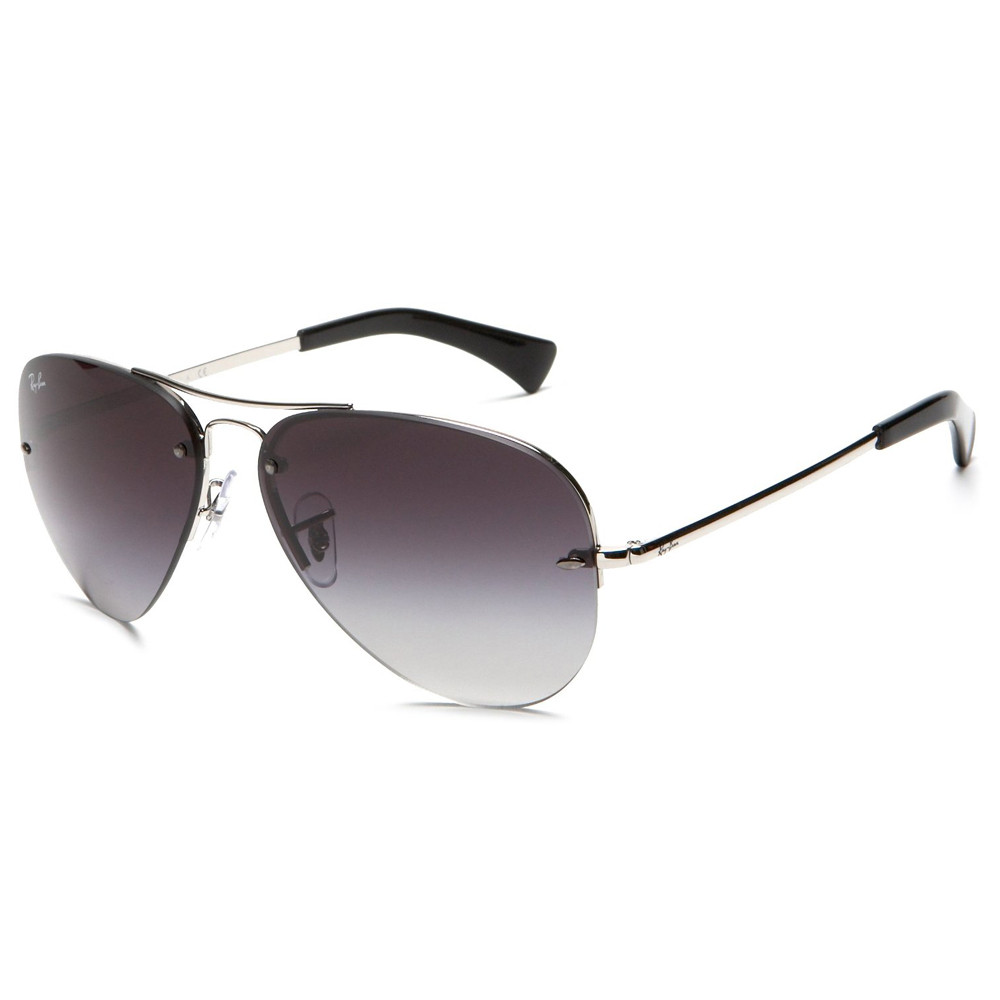 0dc1073312 Ray Ban Sunglasses RB 3449 003 8G Silver 56-14-135 - Elite Eyewear ...