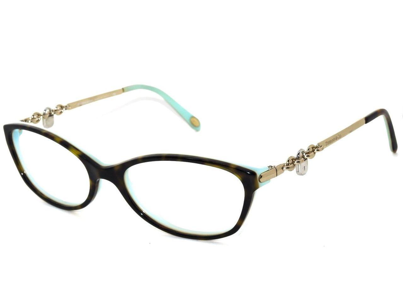 cec330b29363 TIFFANY Eyeglasses TF 2063 8134 Havana Blue 52MM - Elite Eyewear Studio