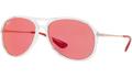 Ray Ban RB4201 Alex Sunglasses 6293C8 Transparent/Copper 59mm