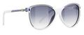 Balenciaga 0104 Sunglasses 01O6LF OptWhtblue
