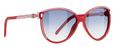 Balenciaga 0104 Sunglasses 01O9KC Red Wht