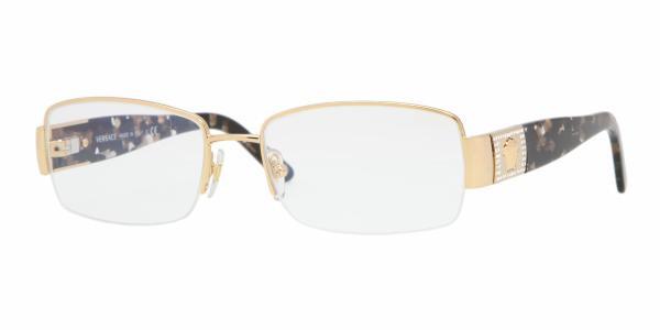 a08384a1f8 VERSACE VE 1175B Eyeglasses 1002 Gold 53-17-135 - Elite Eyewear Studio