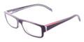 Prada PS01AV Eyeglasses ZXX1O1 Blk/Transp GRAY (5115)