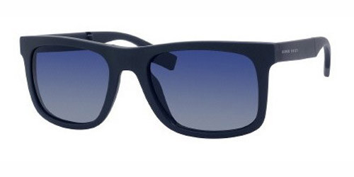 06bf80cb4d98 HUGO BOSS 0446/S Sunglasses 0ELW Matte Blue 54-20-140. Image 1. Loading zoom