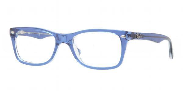 2cd14ecb15 Ray Ban Eyeglasses RX 5228 5111 Blue Transp 50MM - Elite Eyewear Studio