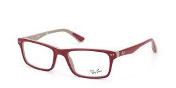 9daa35a1f9 Ray Ban Eyeglasses RX 5288 5178 Top Bordeaux On Grey Demo Lens 52MM ...