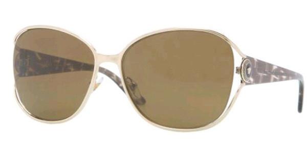 39965a50e62ba Versace Sunglasses VE 2137 125273 Pale Gold 58MM - Elite Eyewear Studio