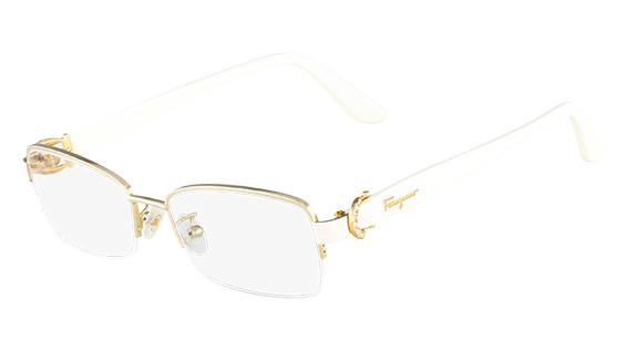 ecd86f6bae628 Salvatore Ferragamo Eyeglasses SF2113R 717 Shiny Gold 53MM - Elite ...