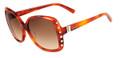 Valentino Sunglasses V623S 725 Blonde Havana 56MM