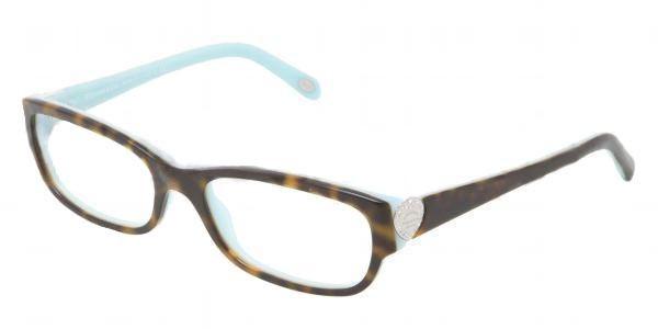 3f1e4bfaf849 TIFFANY Eyeglasses TF 2065B 8134 Havana Blue 54MM - Elite Eyewear Studio