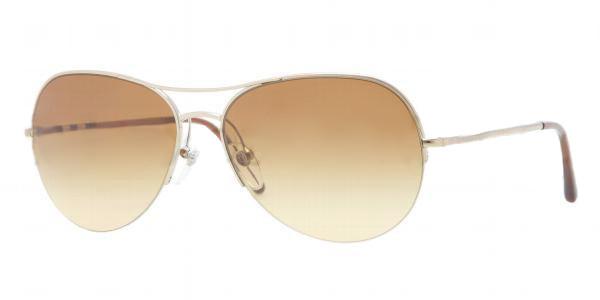 43edc78ec330 BURBERRY Sunglasses BE 3060 11452L Burberry Gold 57MM. Image 1. Loading zoom