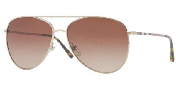 66a59117a4e9 BURBERRY Sunglasses BE 3072 114513 Burberry Gold 57MM - Elite ...