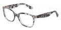 Dolce & Gabbana Eyeglasses DG 3165 1901 Blk Lace 52MM