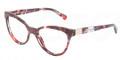 Dolce & Gabbana Eyeglasses DG 3169 2733 Red Marble 53MM