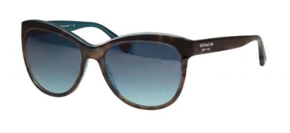 abb31c7e292a Coach Sunglasses HC 8055F 51164S Tort Teal 56MM - Elite Eyewear Studio