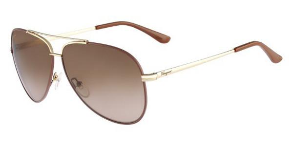 bfab291cc3dd SALVATORE FERRAGAMO Sunglasses SF131S 731 Gold Br Enamel 60MM ...