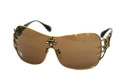 Affliction BLADE Sunglasses Antique Gold/Blk w/Br