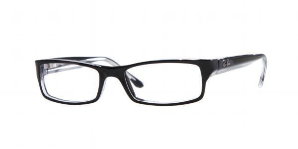 fff1133bdc1 Ray Ban RB 5114 Eyeglasses 2034 Blk Transp 54-16-140. Image 1. Loading zoom