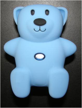 Image of CL-305 blue replacement child locator tracker bear