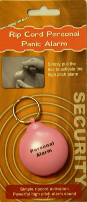 Packaging for the Pink Rip Cord Personal Alarm