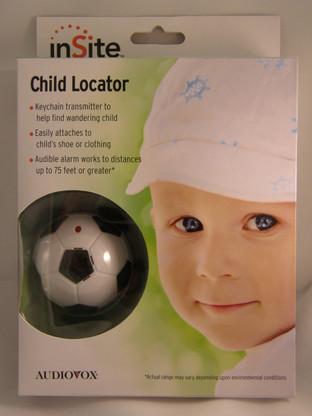 inSite Soccer ball child tracker locator in packaging