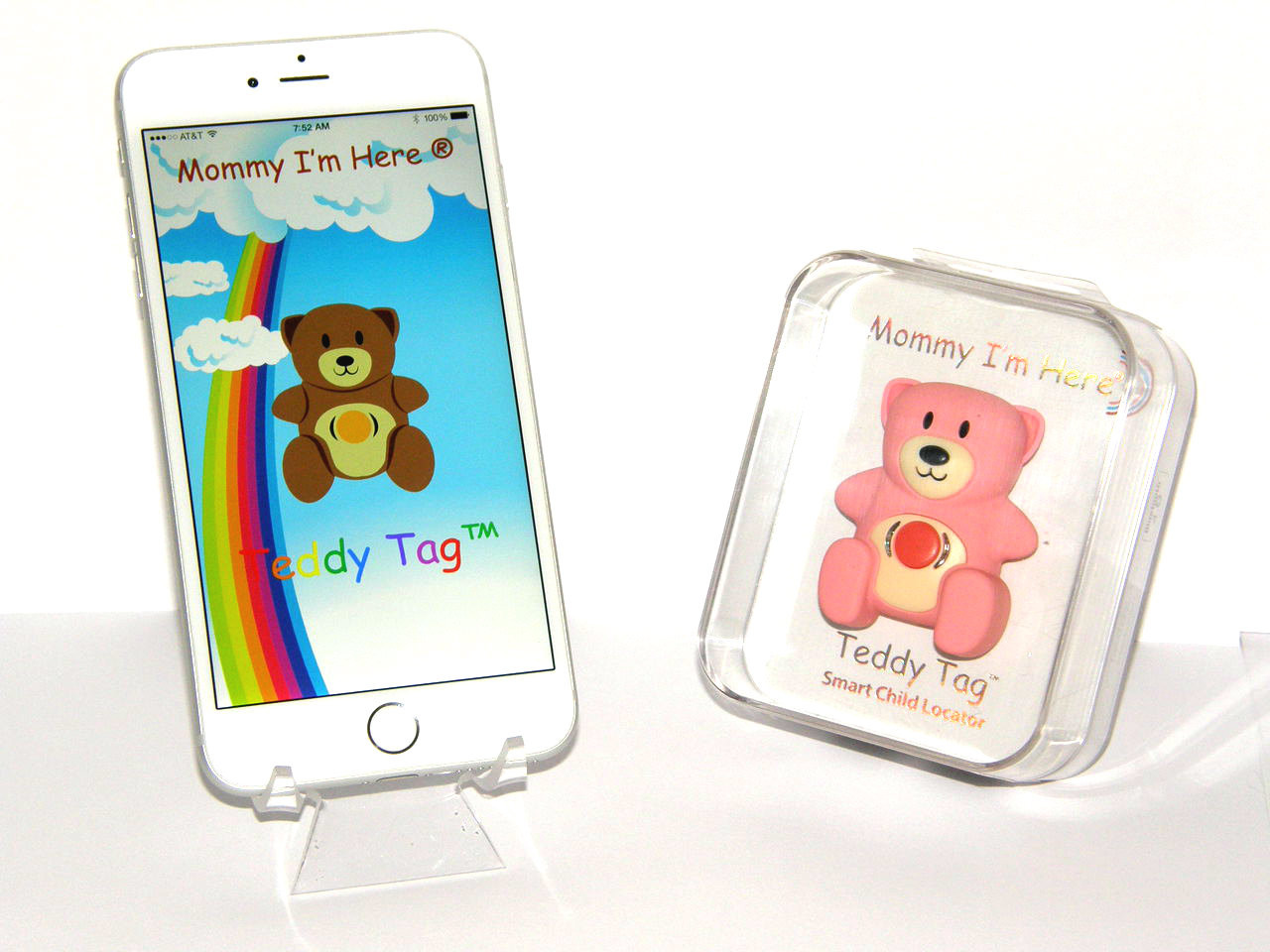 Teddy Tag™ Bluetooth™ Wearable Smart Child Locator With Free Downloadable  App for iPhone and Android mobile devices  PINK color