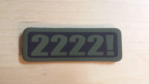 "Back again after a year out of stock. Show your support with the original Gorilla Airsoft Radio 2222! vinyl patch.  Actual size 1"" x 3"""