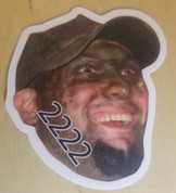 Ben 2222 sticker.  Free shipping