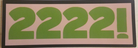"""Show your support for Gorilla Airsoft Radio with a 2222! sticker. 4"""" x 1.5"""" Free shipping anywhere in the world."""